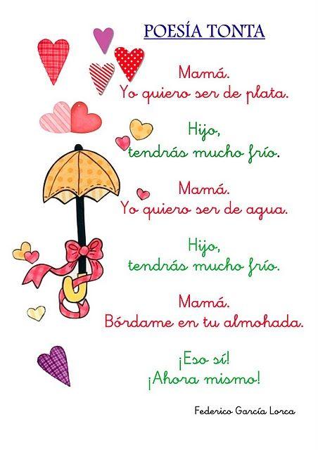 Spanish Poem For Kids By Garcia Lorca Poesía Tonta Fg