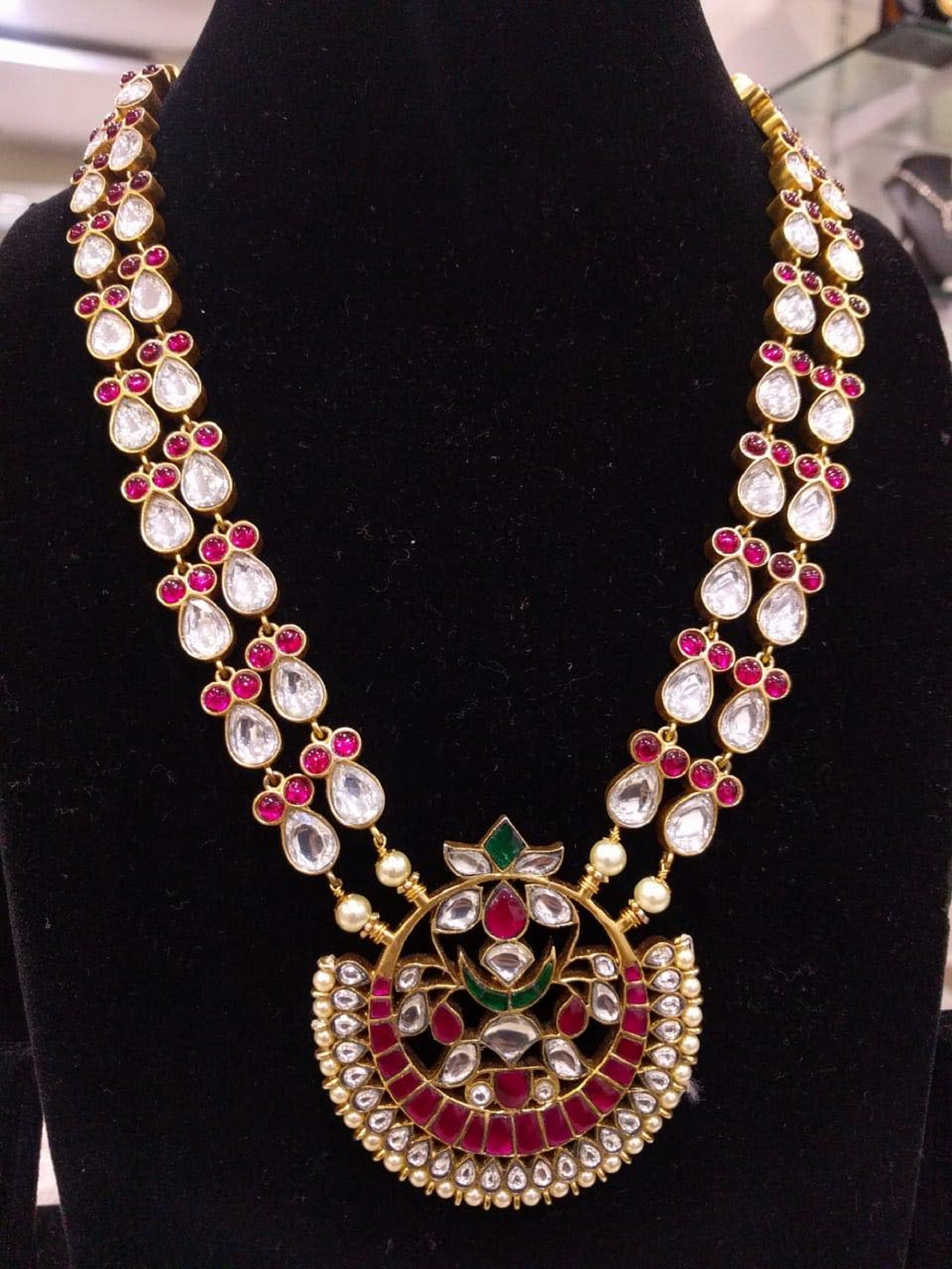 necklace long 2 two strands indian india south 92
