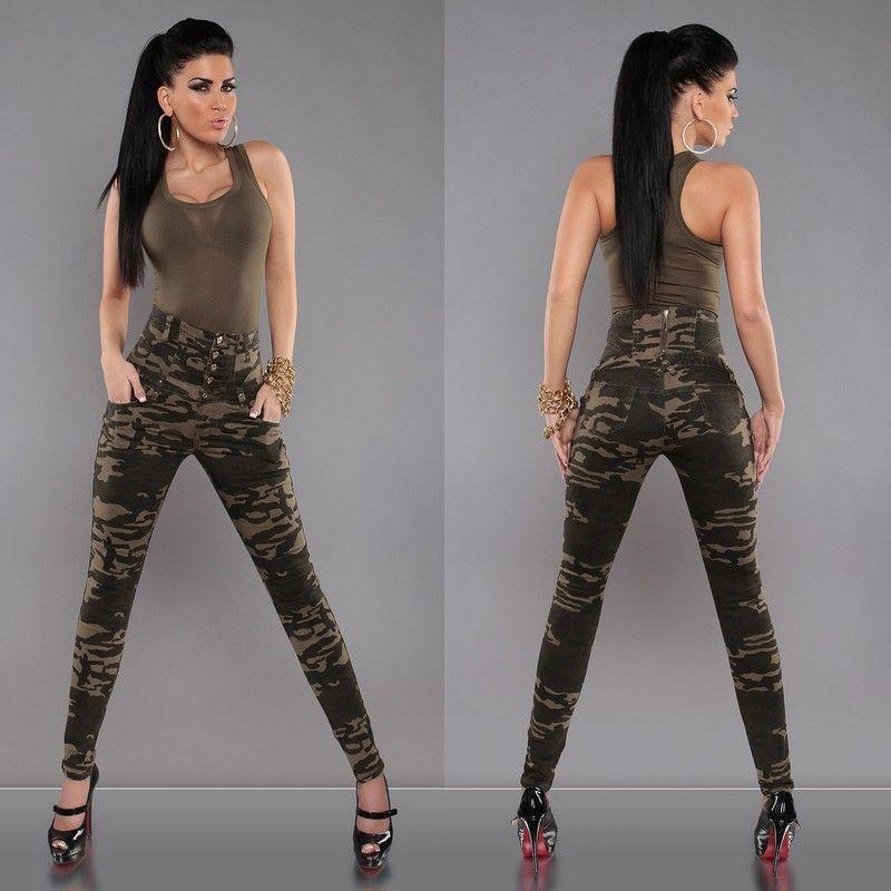 Femme Militaire Deco Slim Pantalon Pantalon Pantalon Deco Slim Militaire Femme vwxq1Cxdt