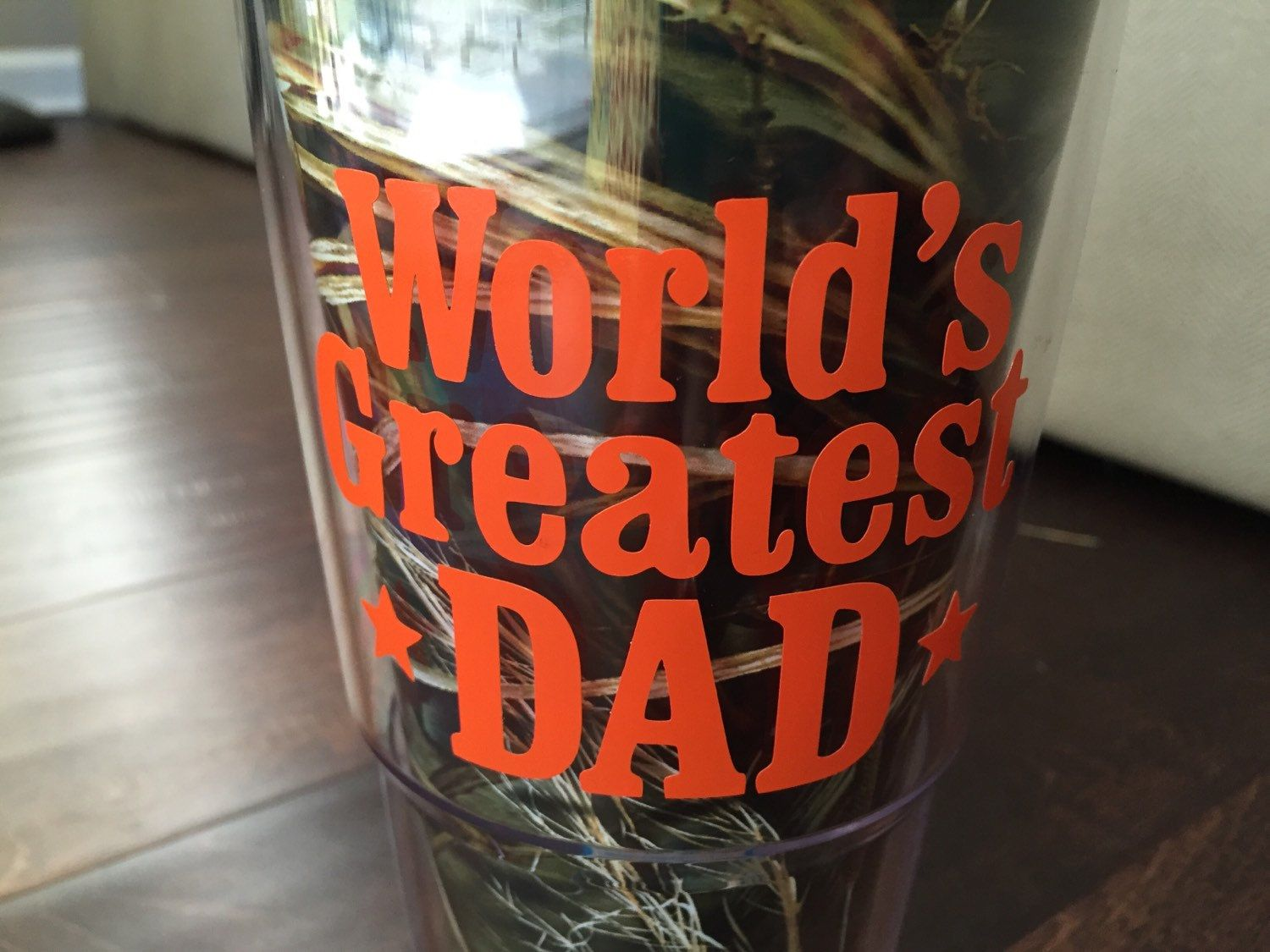 Worlds greatest dad decal for yeti cups coolers insulated cups cars toolbox men gift fathers day gifts by glittersandbows on etsy