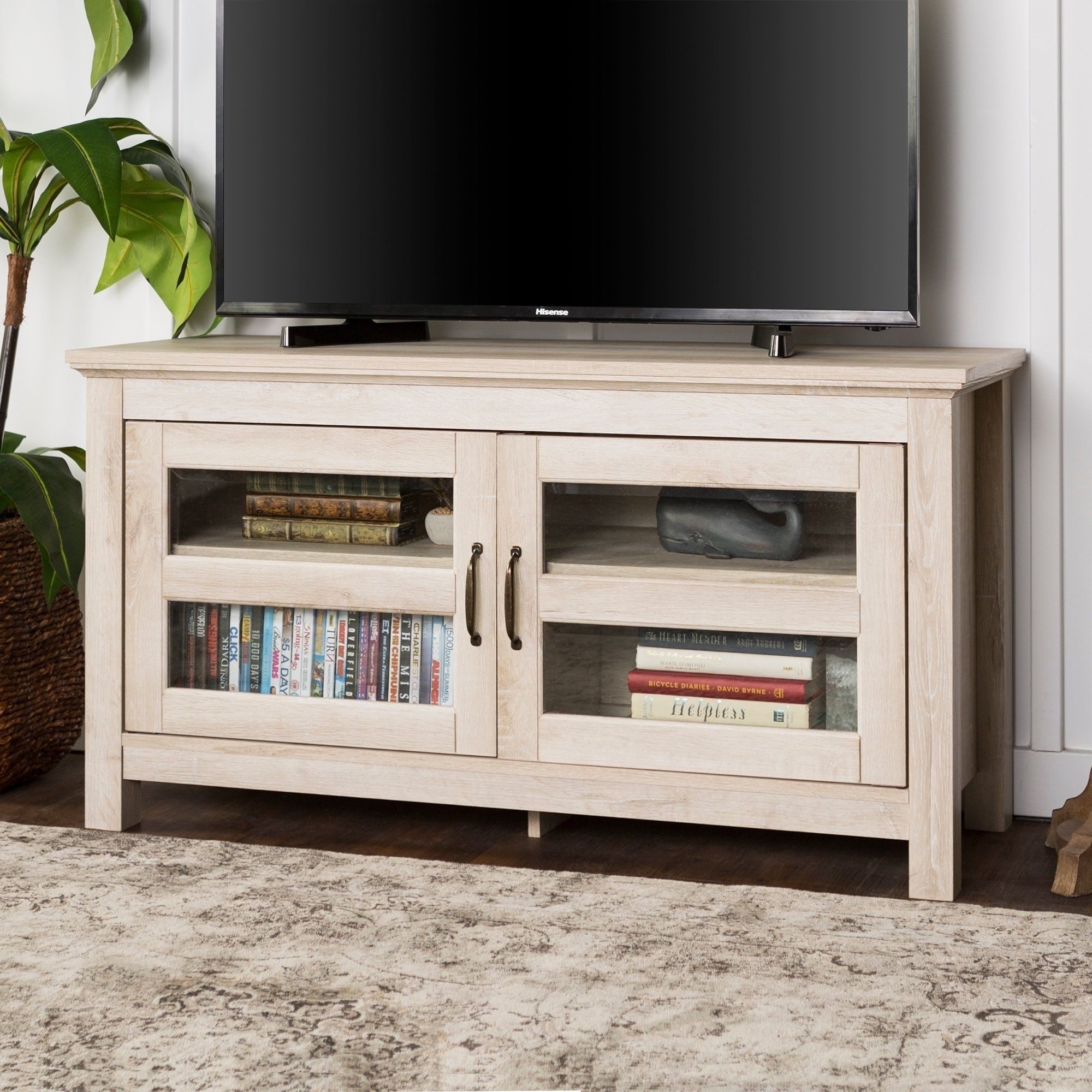 the best attitude b341b 57155 Porch & Den Hubbell 44-inch Wood TV Stand and Storage ...