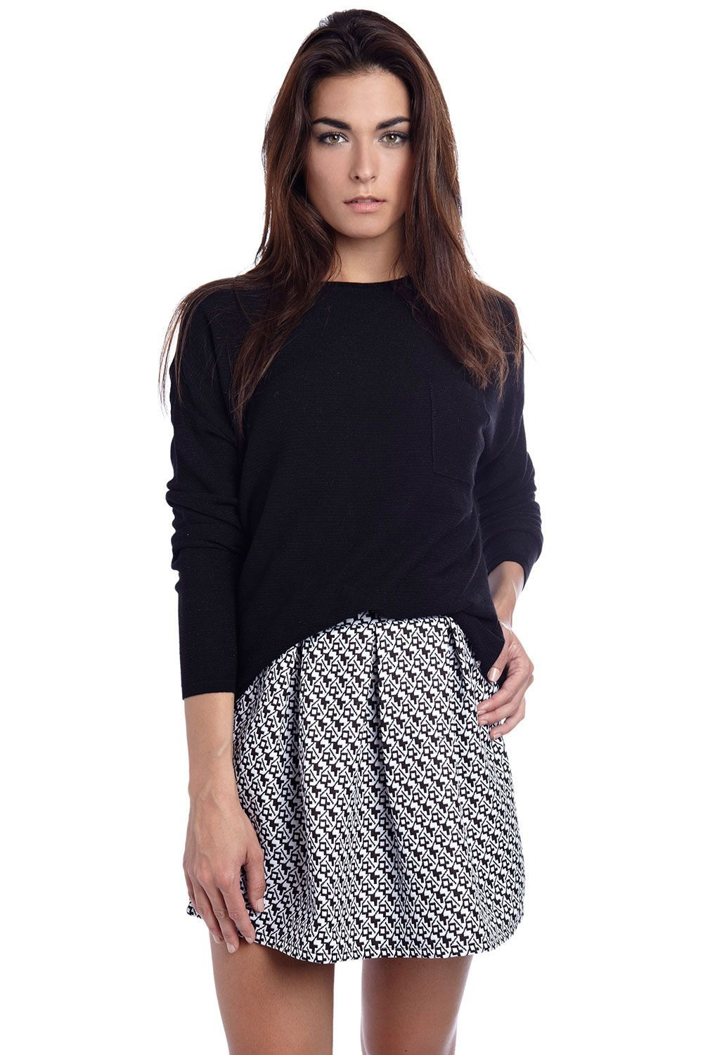 Black sparkle sweater with pocket