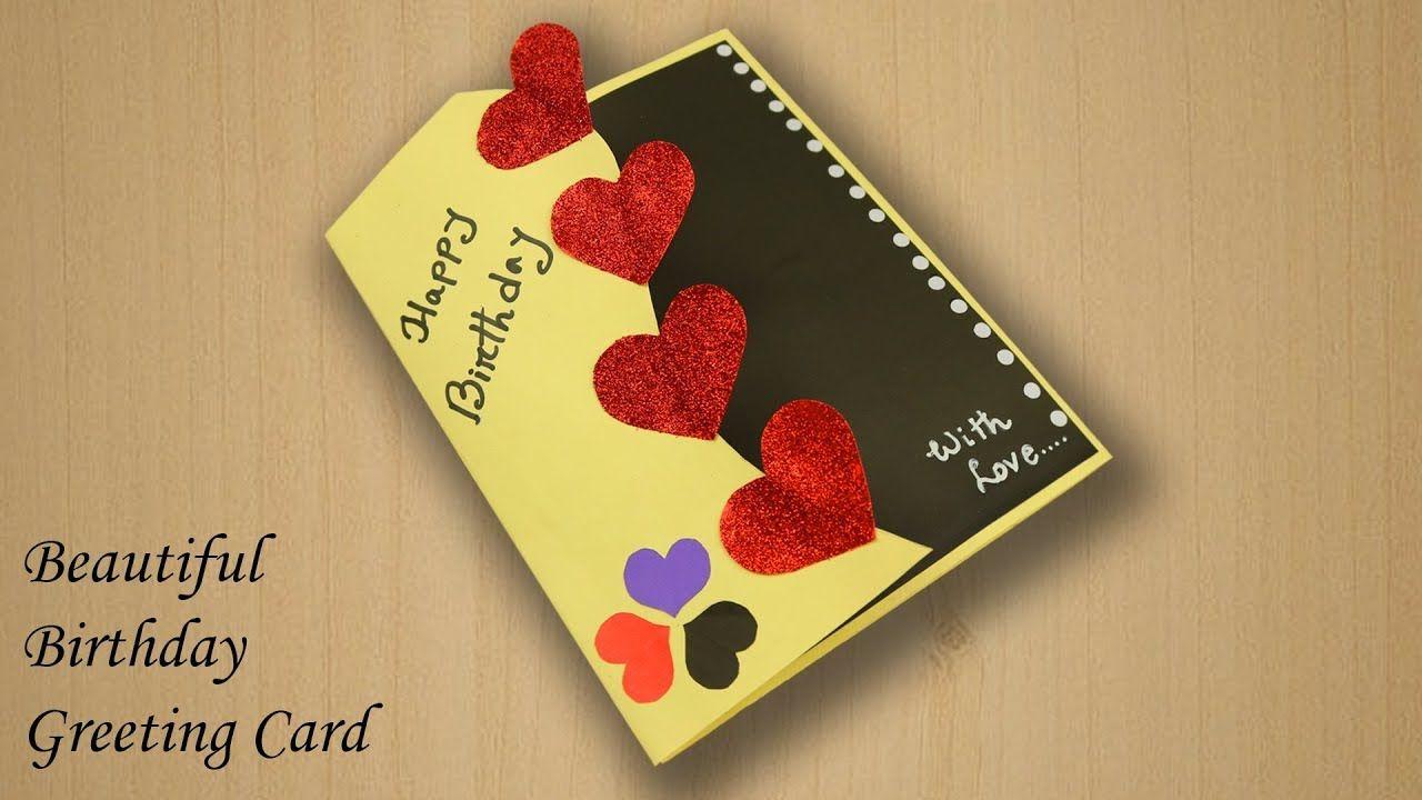 Pleasing Beautiful Birthday Greeting Card Idea Beautiful Handmade Funny Birthday Cards Online Fluifree Goldxyz