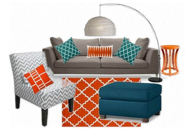 Orange living room ideas dream home ideas living room - Orange and grey living room ideas ...