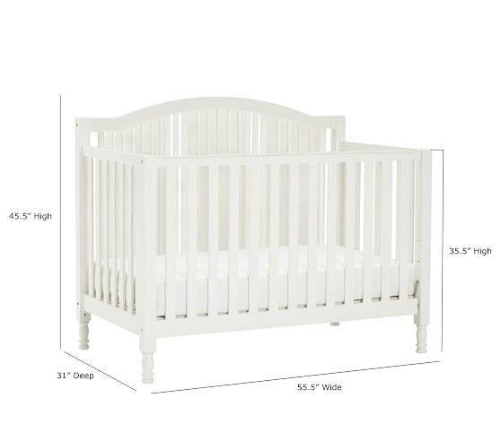 Catalina 3 In 1 Convertible Crib Pottery Barn Crib Cribs Convertible Crib White
