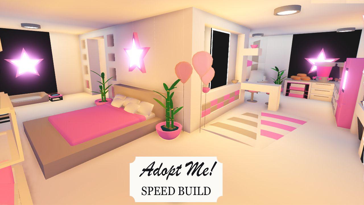 Cute Pink House Adopt Me In 2021 Cute Room Ideas Pink Houses Room Ideas Aesthetic Bedroom idea adopt me