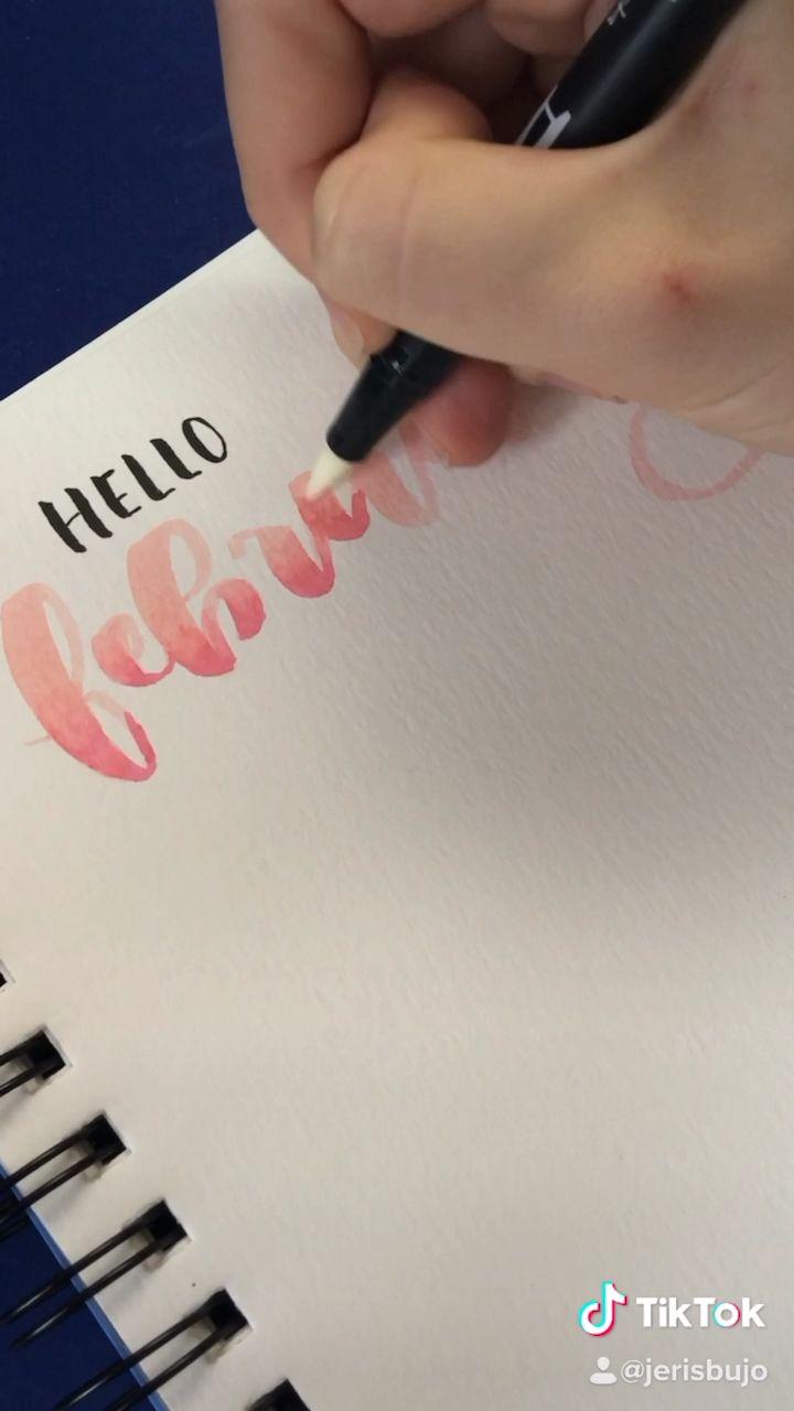 Video February Lettering Tiktok Insta Jerisbujo Tulisan Bullet Journal Buku Kliping