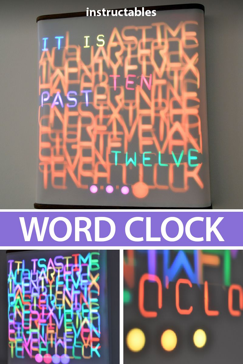 Word Clock Controlled by 114 Servos | LEDs | Clock, Arduino projects