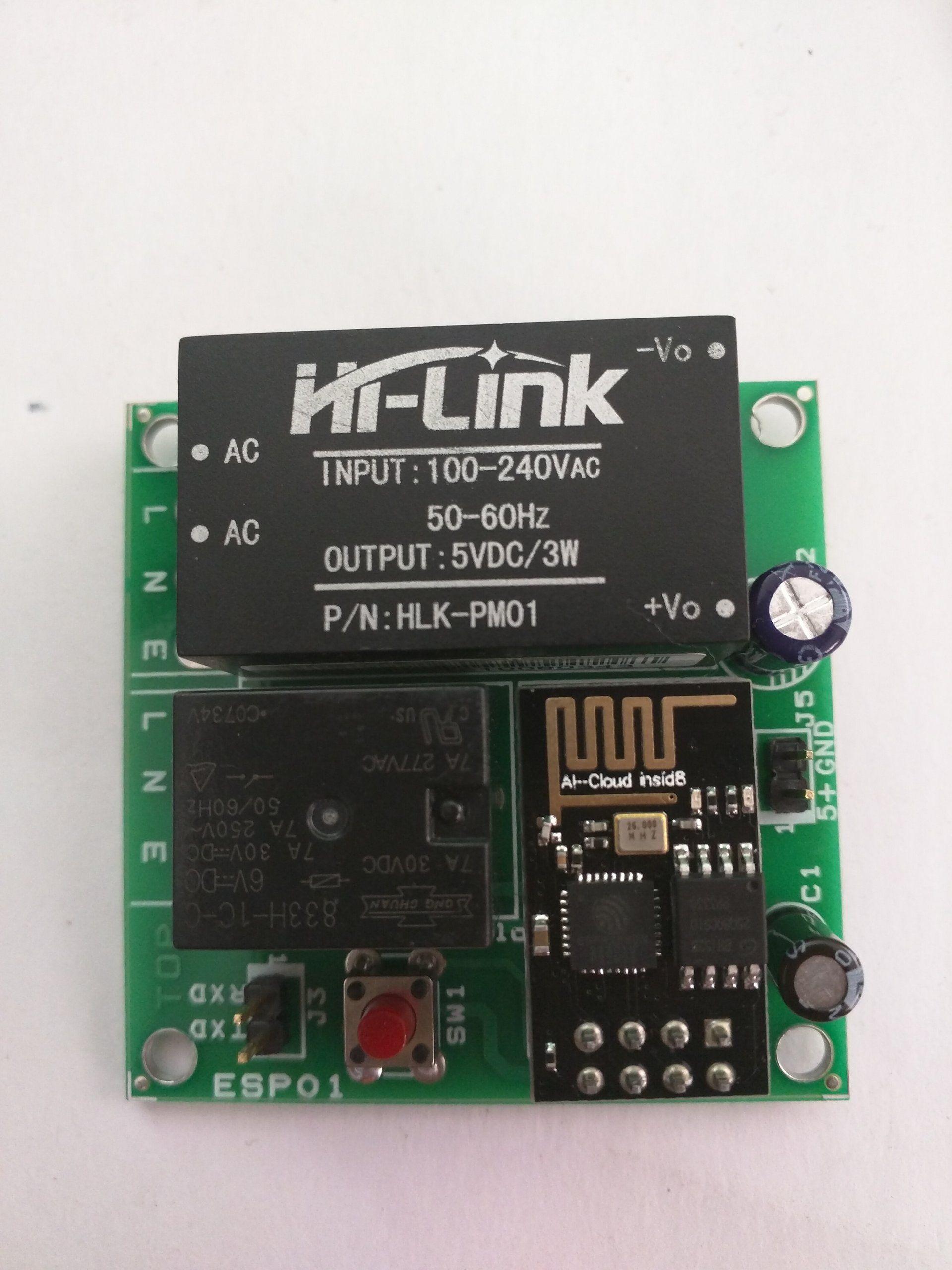 Esp8266-01 wifi relay module in 2019 | Esp8266 | Arduino, Wifi
