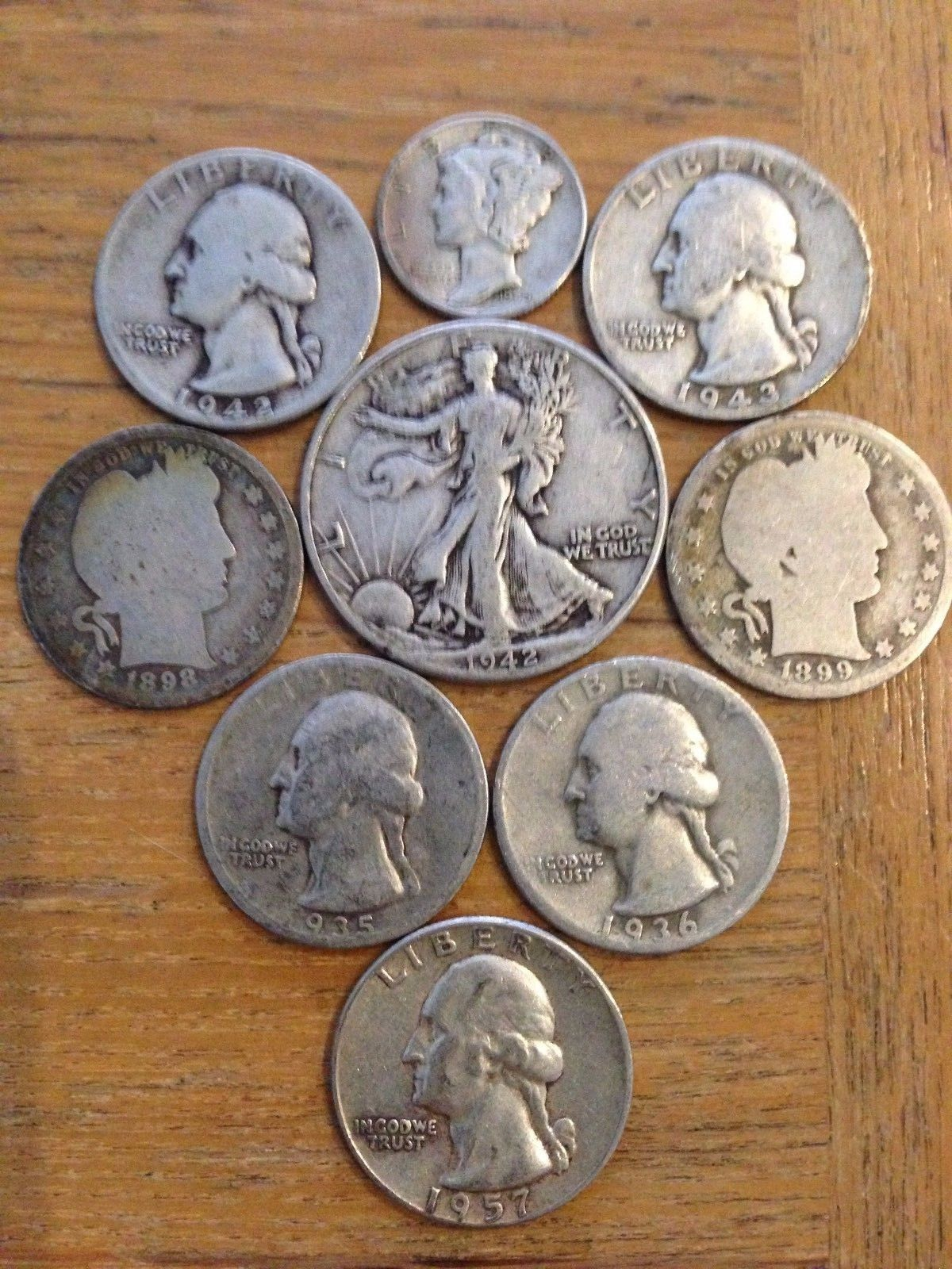 #coins Collection of US 90% Silver Coins - Walker Half Dollar , Old Quarters and a Dime please retweet