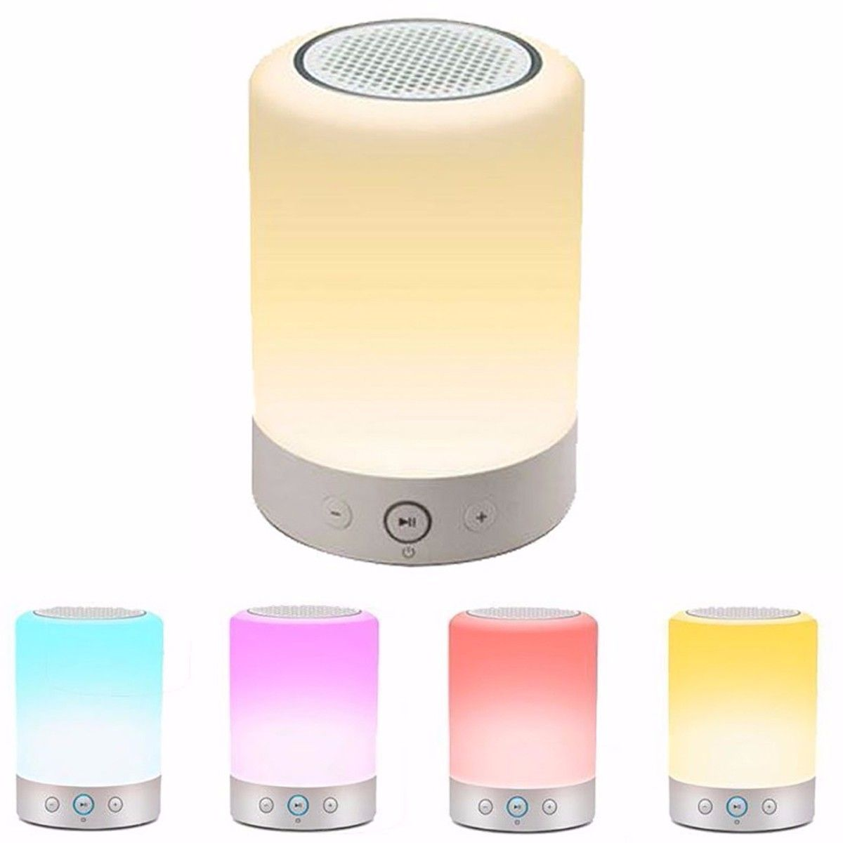 Bluetooth Speaker Wireless Stereo Speakers Led Bedside Lamp With Touch Sensitive Control Panel Different Wireless Stereo Speakers Stereo Speakers Bluetooth
