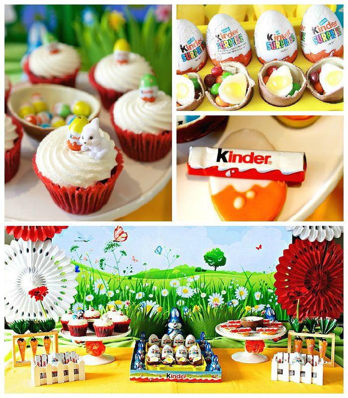 Kinder Egg Inspired Easter Party
