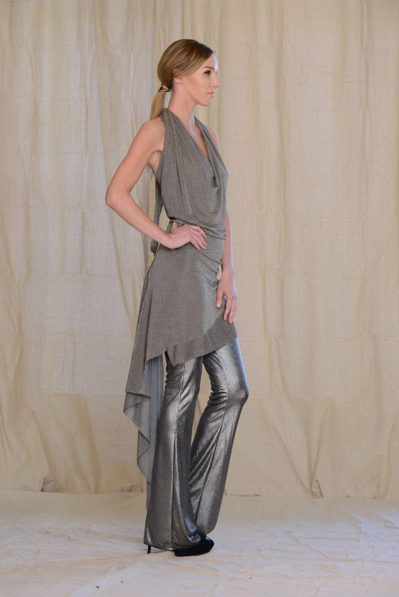 Bronze Halter Dress