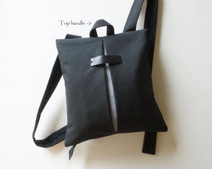 Minimal college backpack Cool messenger bag Gray waterproof  3db0159b306ef