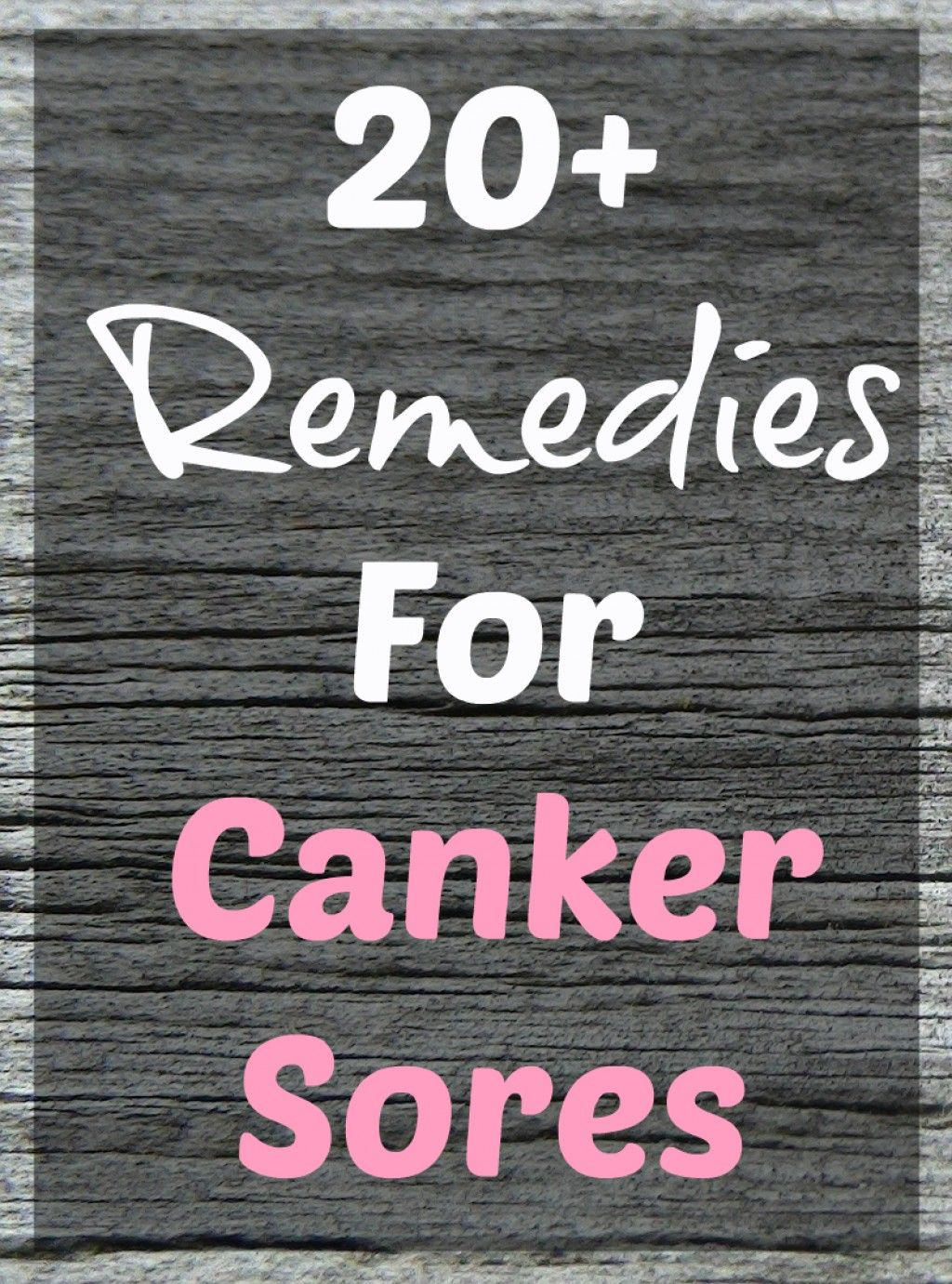 Pain Relief For Canker Sores Amp Mouth Ulcers Natural And