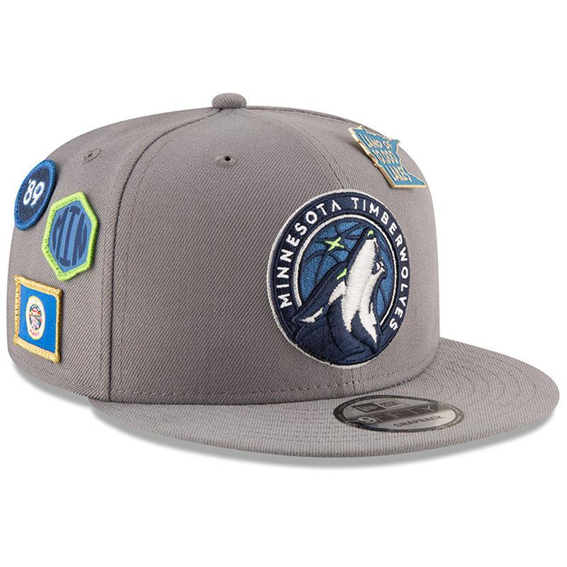 Minnesota Timberwolves New Era 2018 NBA Draft 9FIFTY Adjustable Hat – Gray 060ed72d4579