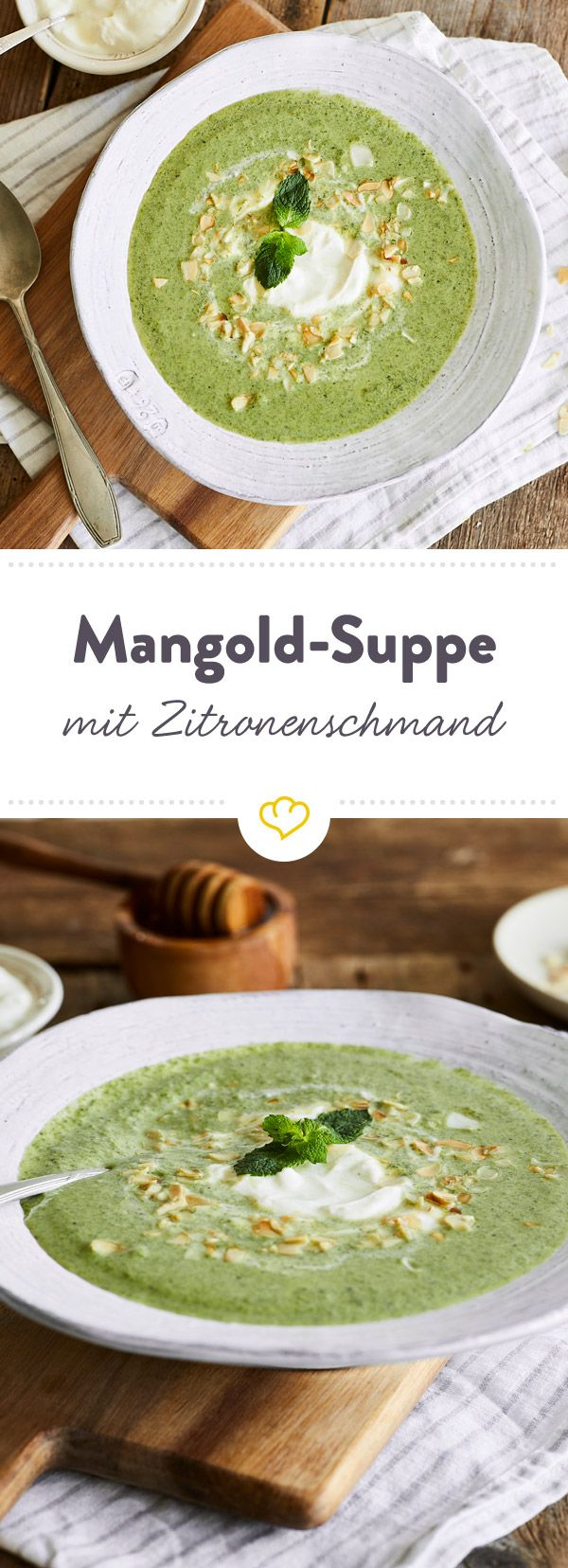 cremige mangold suppe mit minze und zitronenschmand rezept was soll ich kochen suppen. Black Bedroom Furniture Sets. Home Design Ideas