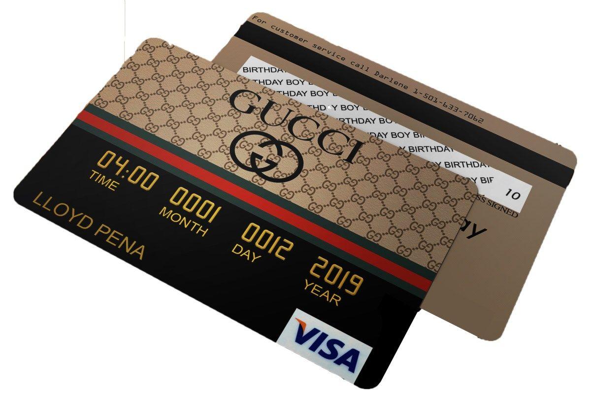 Gucci Credit Card Invitations Gucci Birthday Gucci Party Designer Party Bling Birthday Party Birthday Party For Teens Baby Birthday Themes