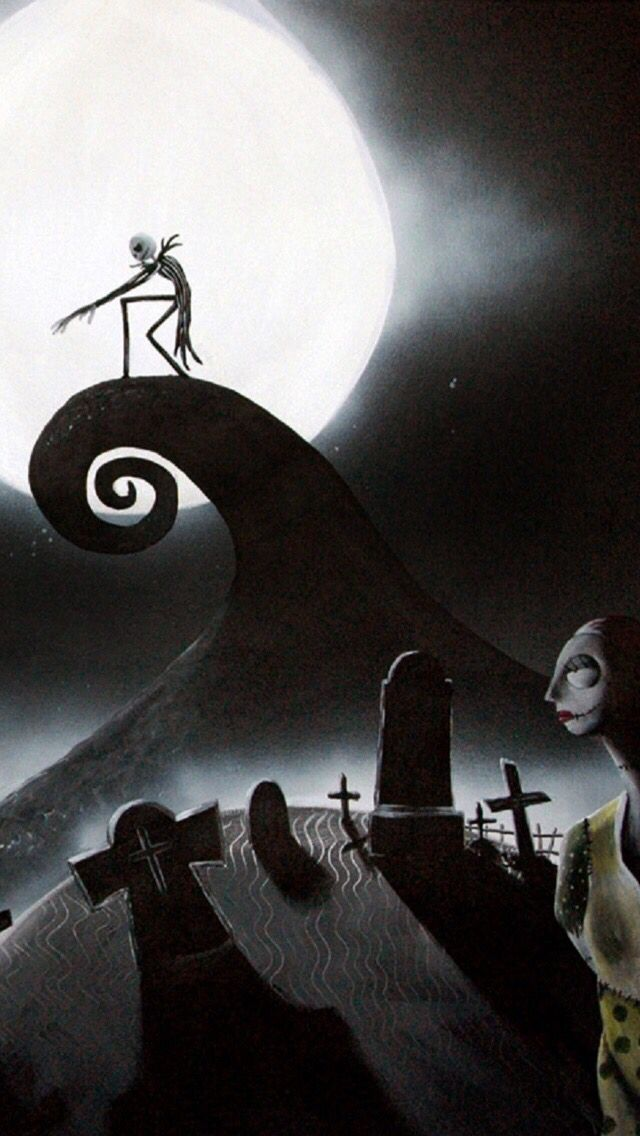 The Nightmare Before Christmas artwork iPhone 5s wallpaper