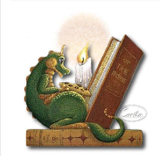 Image result for dragon with books