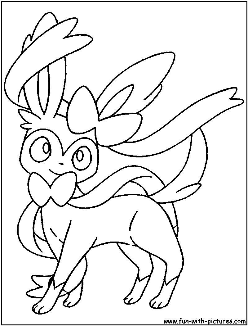 Pokemon Coloring Pages Eevee Evolutions Sylveon