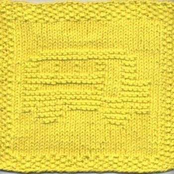 School Bus Knit Dishcloth Pattern | Tricot | Pinterest | Paño de ...