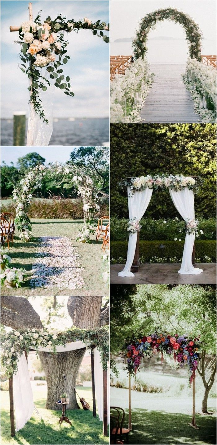 20 prettiest floral wedding arch decoration ideas floral wedding 20 prettiest floral wedding arch decoration ideas junglespirit Images