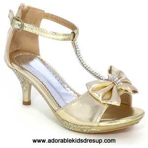 e935cf034b7 Girls High Heels - gold t-strap - gz | Ma Ma Mia | Girls high heel ...