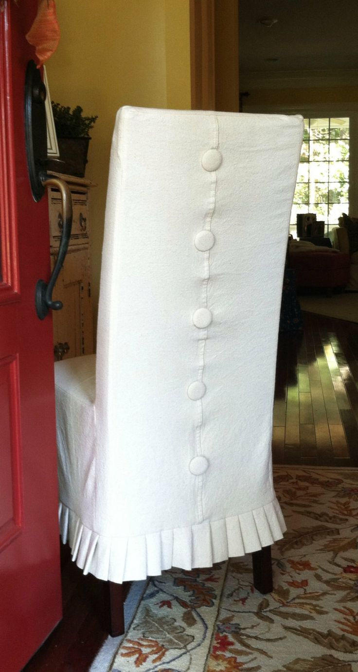 Shabby Chic Parson's Chair Slipcover By