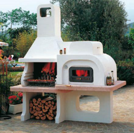 Forno a legno professionale da giardino 9500 caminetti - Barbecue e forno da giardino ...