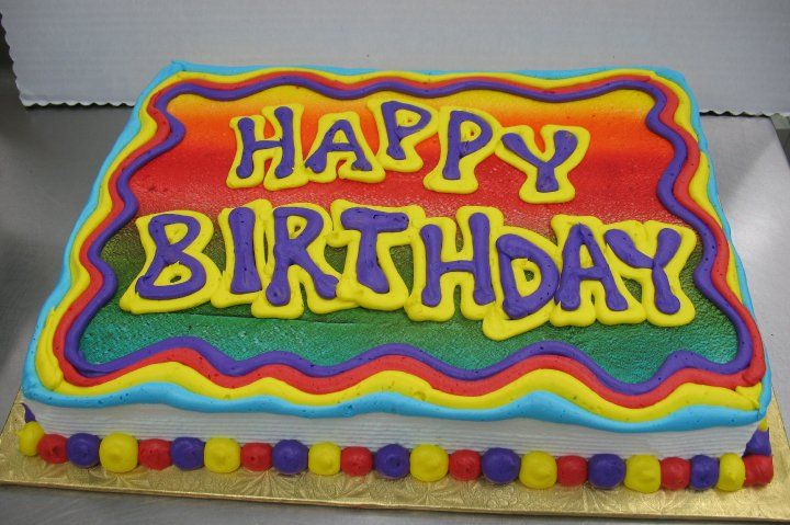 Fine Happy Birthday Sheet Cake By Stephanie Dillon Ls1 Hy Vee Funny Birthday Cards Online Elaedamsfinfo