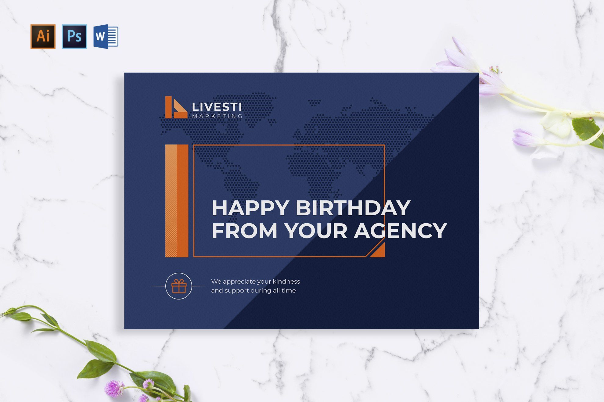 Marketing Agency Greeting Card Business Postcards Greeting Card Template Business Card Template