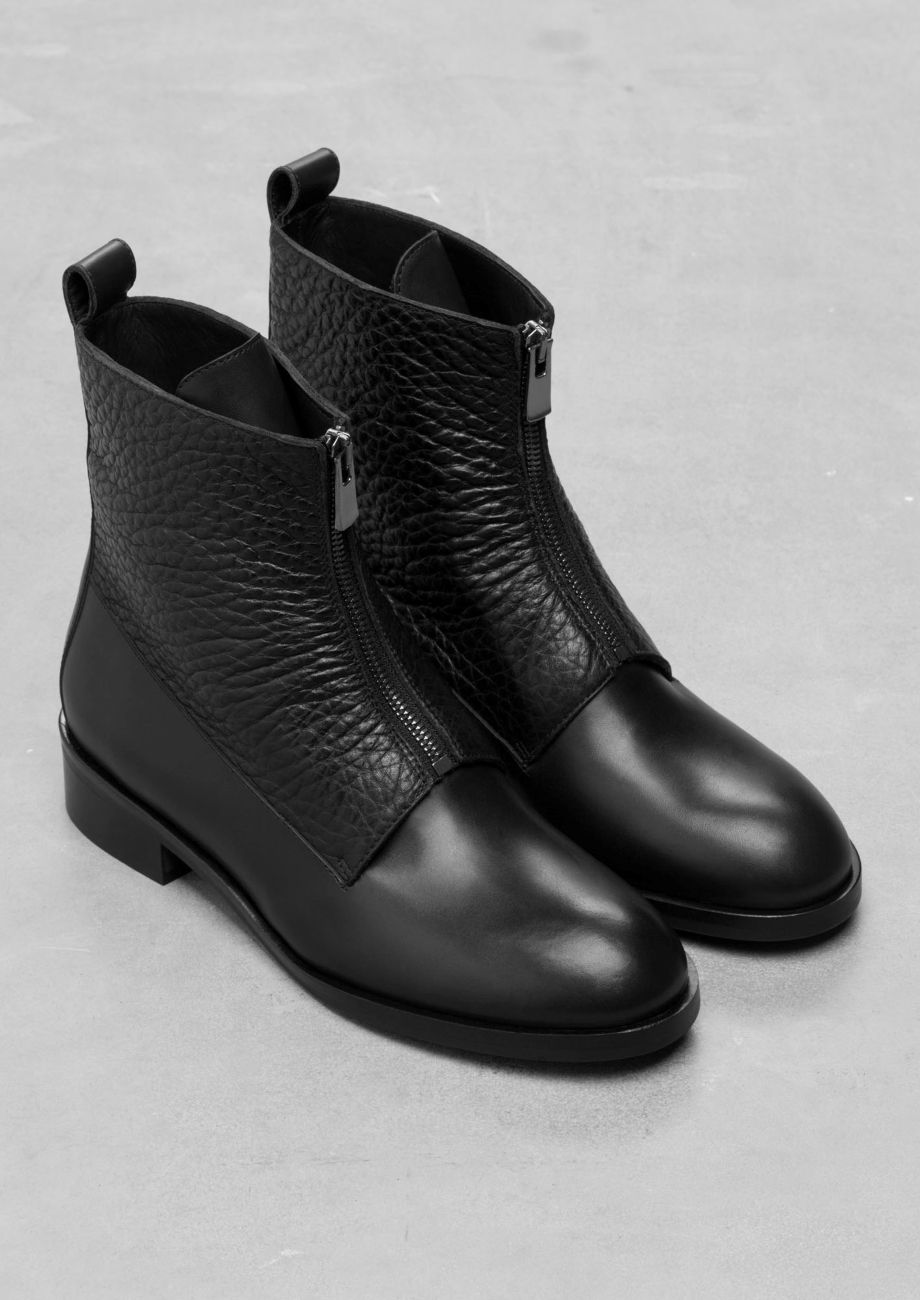 other stories low heel leather ankle boots wl s pinterest chaussure bottines et bottes. Black Bedroom Furniture Sets. Home Design Ideas
