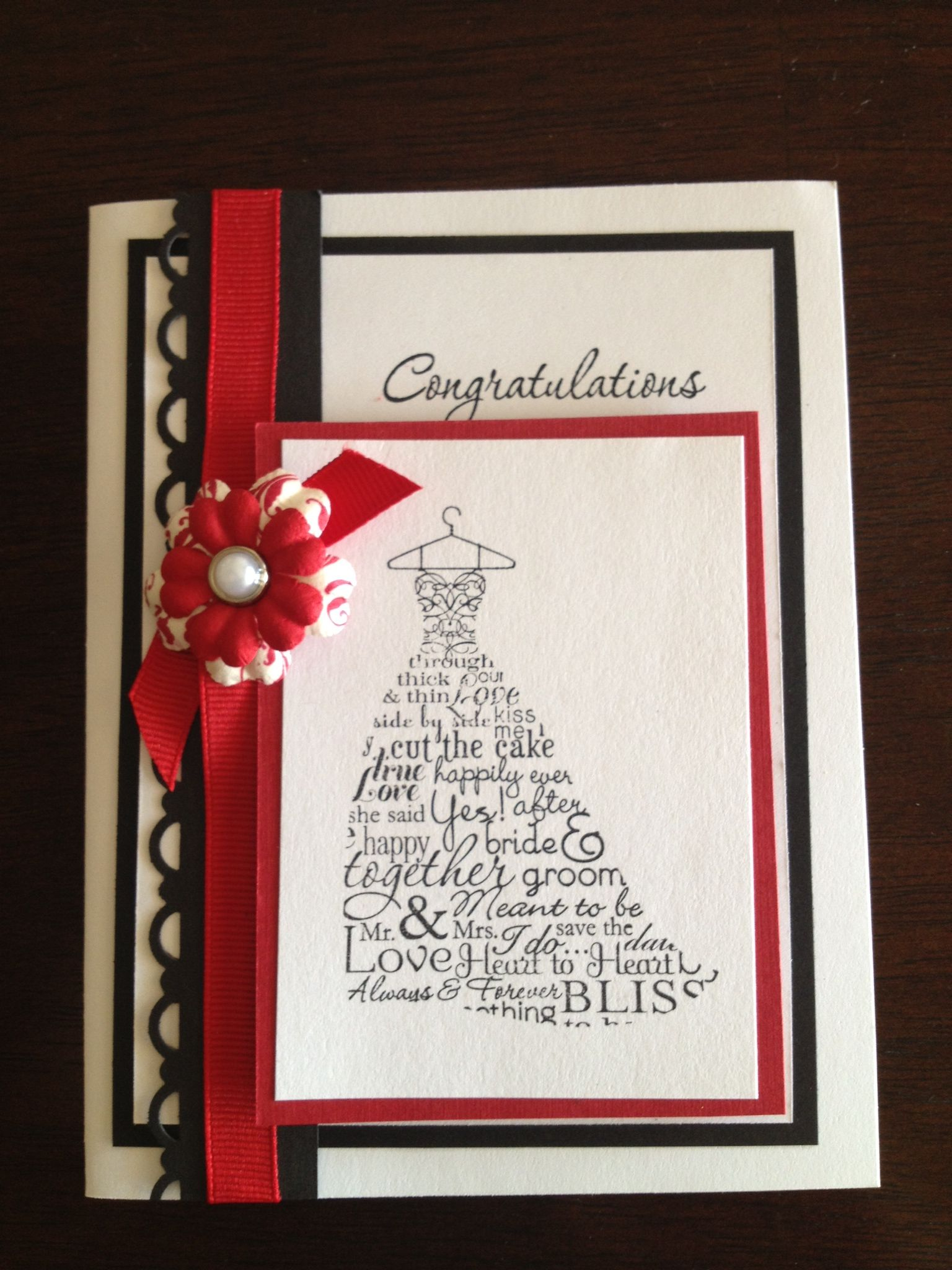 Stampin Up Wedding Card Visit our website to view the catalogues and ...