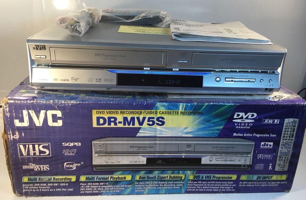 jvc dr mv5s dvd recorder with original box manual remote rca cable rh pinterest com JVC DVD Discs JVC DVD Player