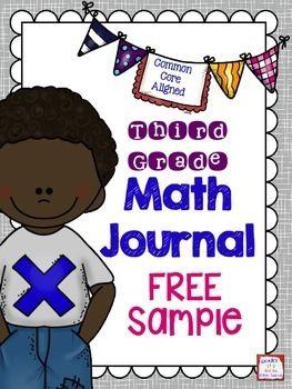 Third Grade Math Journal Freebie Sample Math In 3rd Pinterest