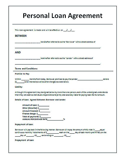 Download Loan Contract Template with Crucial Details to Note - company loan agreement template