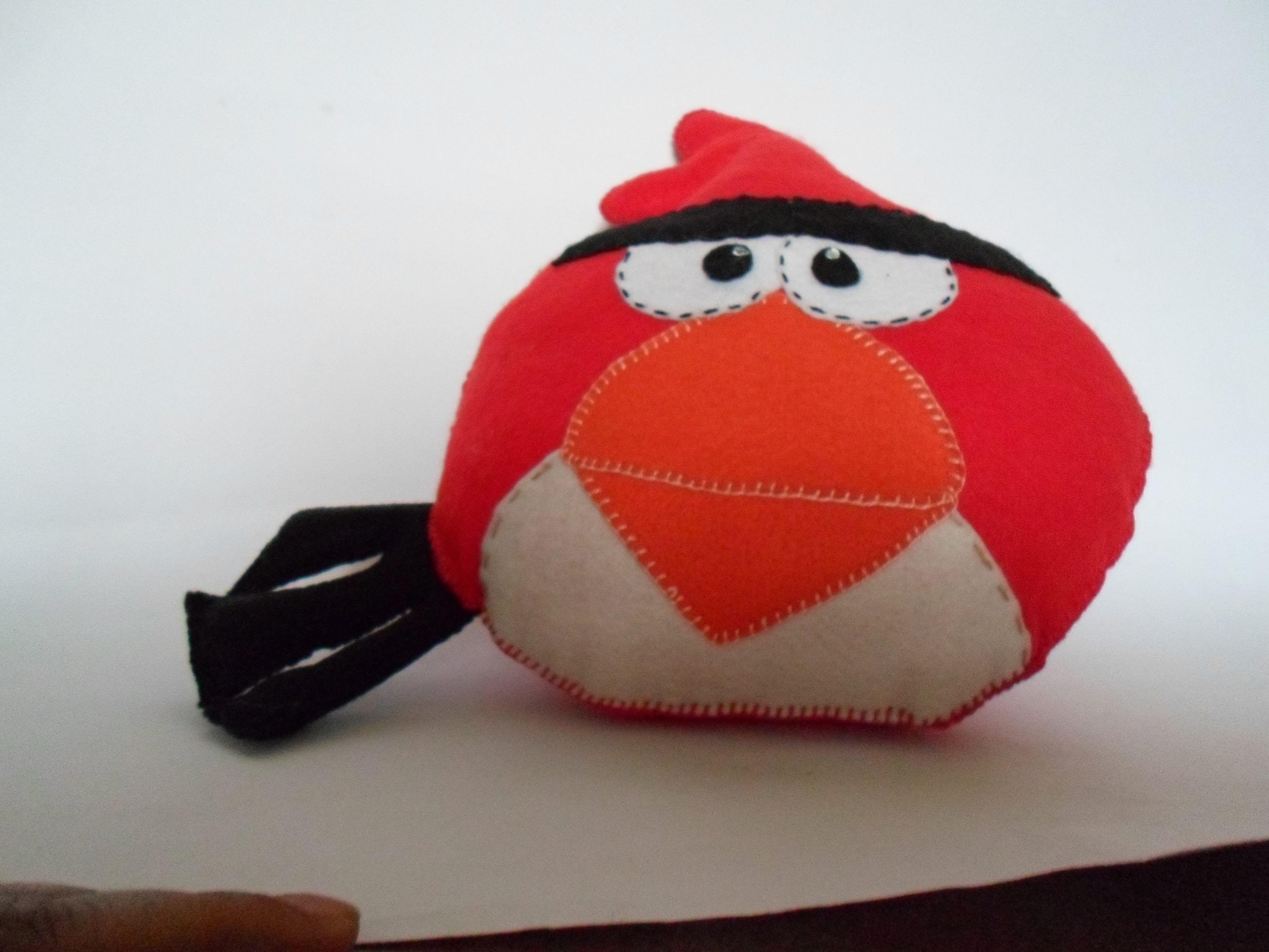Angry Bird em feltro,