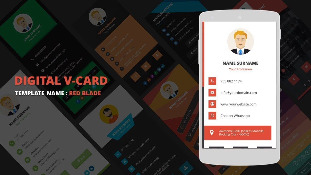 The Marvellous Digital Business Card Template Digital Vcard Template Redblade With Call Card Tem Digital Business Card Business Card Template Card Template
