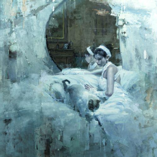 artchipel:  Jeremy Mann - The Forgotten | Abandon. Oil on Panel, 48x48 in.
