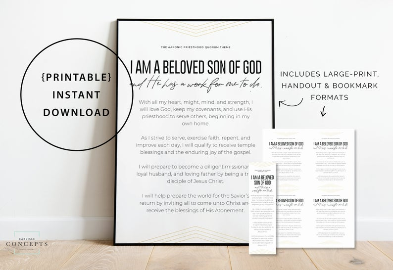 New Young Men Lds Theme Gold Ym Theme Handouts And Etsy Young Men Lds Scripture Study Printing Business