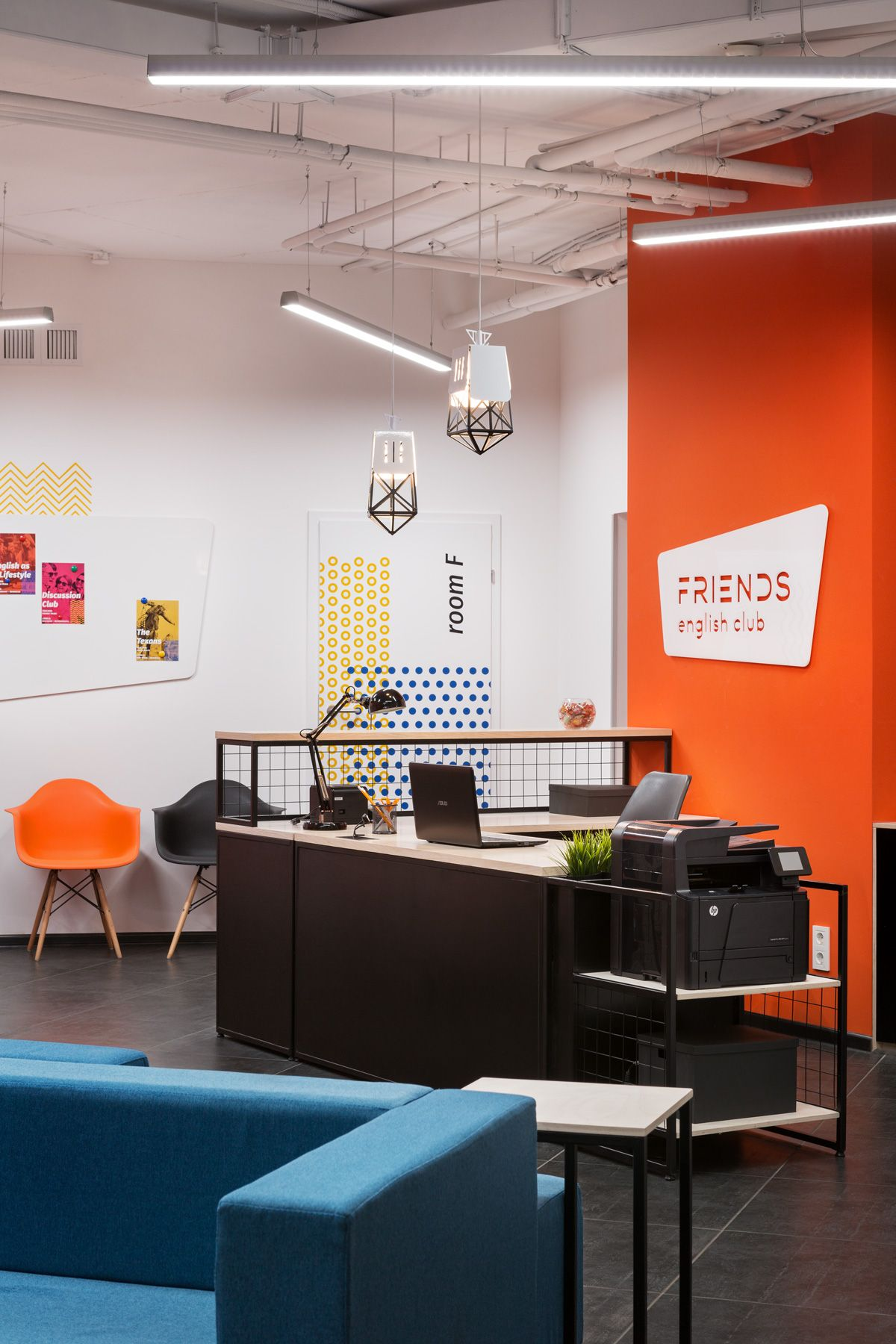 Innovative English Classrooms ~ Friends english club interior design for the