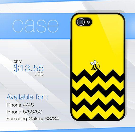 chevron yellow bee iphone case iphone 4 case by SIMPELMonogram, $14.99