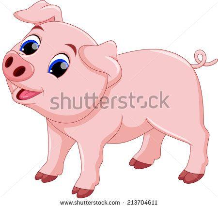 Cute Pig Cartoon Stock Vector Pig Cartoon Pig Illustration Cartoon Pics