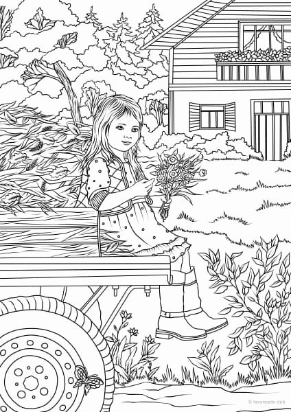 Spring Time Coloring Pages Best Of Country Spring Little ...
