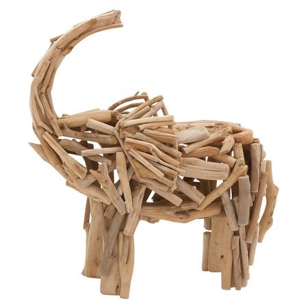 Showcasing a driftwood-inspired design and delightful elephant silhouette, this eye-catching sculpture brings natural appeal to any space.  ...