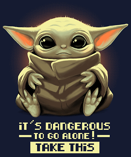 It's dangerous to go alone! is sold by Qwertee for 12