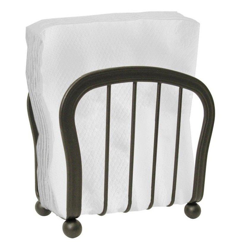 InterDesign 50171 York Dining Room Table Napkin Holder Kitchen, Bronze
