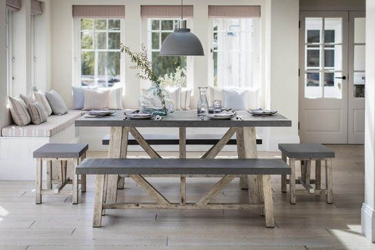 Swap Chairs For Benches To Fit More People Around The Table Room KitchenKitchen TablesDining