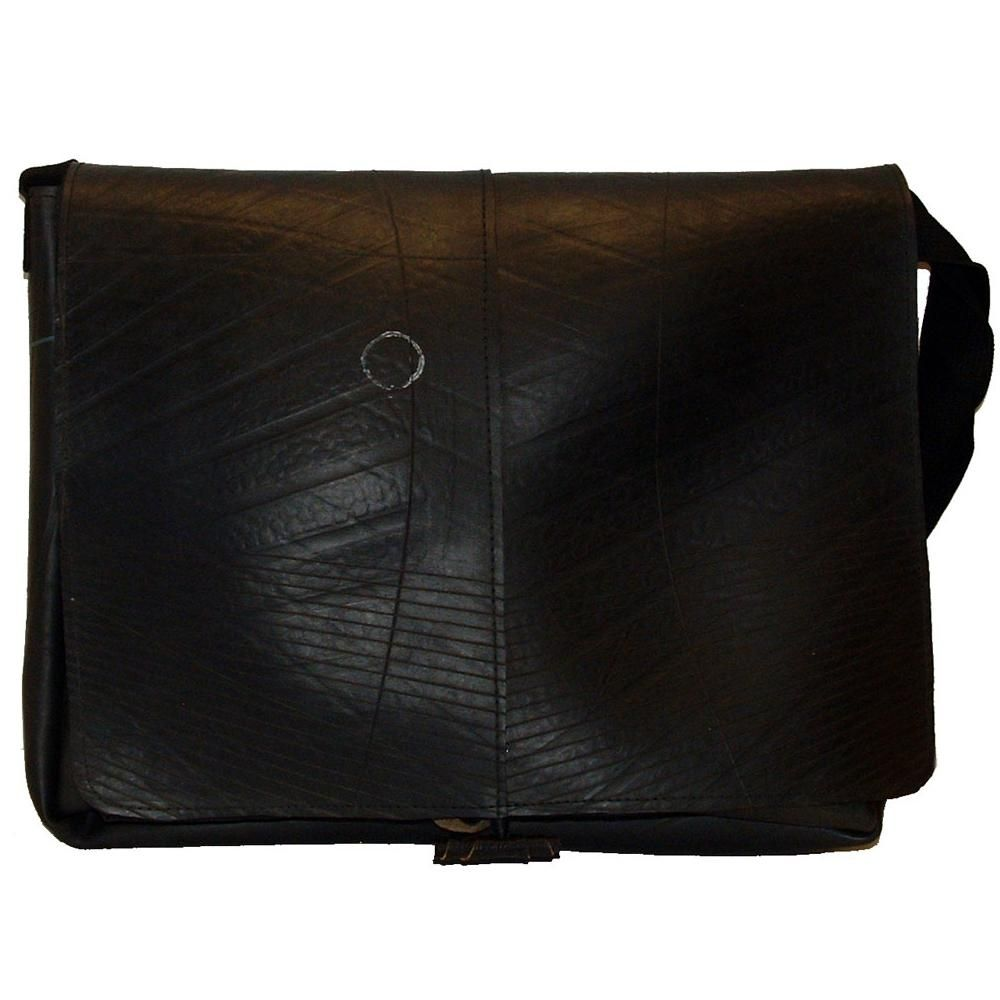 2nd Quality Fair Trade Handmade Small Brown Leather Courier//Messenger Bag